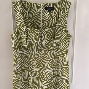 Perceptions New York Olive Green & White Dress 12